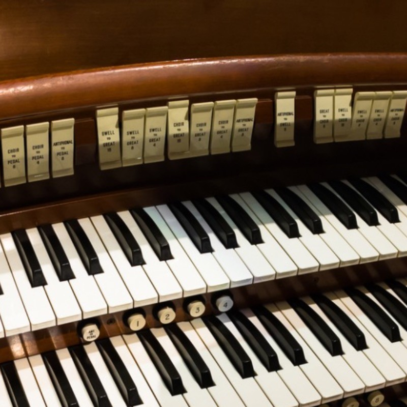 The beauty behind the organ music.