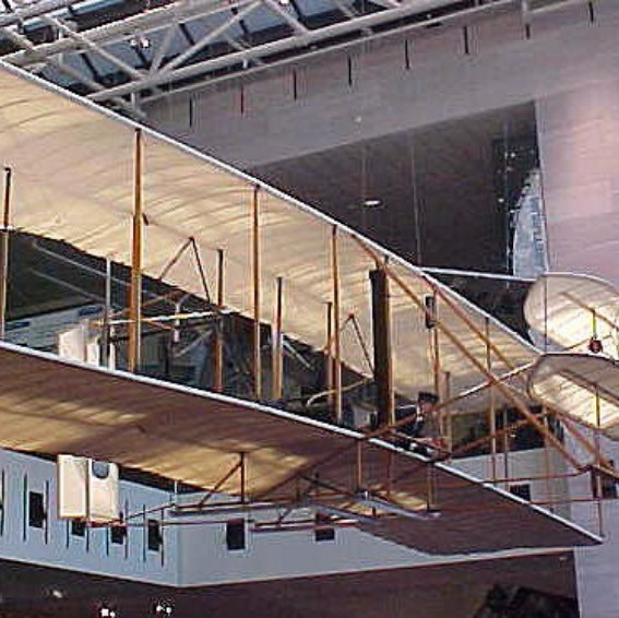 The Wright Flyer on display